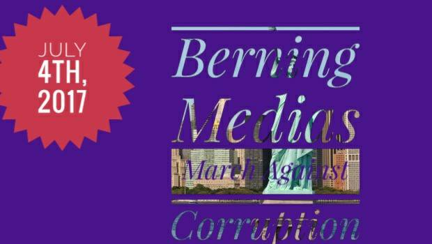 NEW YORK: Berning Media Silent March Against Corruption (JULY 8)