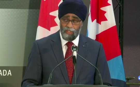 Canada's Defence Minister Harjit Sajjan announces a major military overhaul of the Canadian ArmedForces