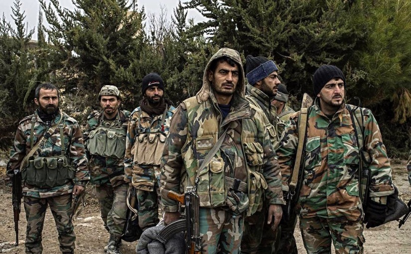 Syrian Arab Army, backed by Russian warplanes, managed to stop a large-scaled ISIL offensive
