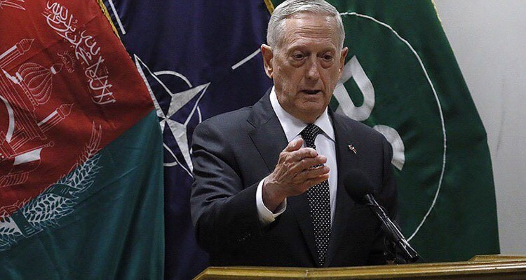 Defense James Mattis was the target of a rocket attack at Kabul Airport