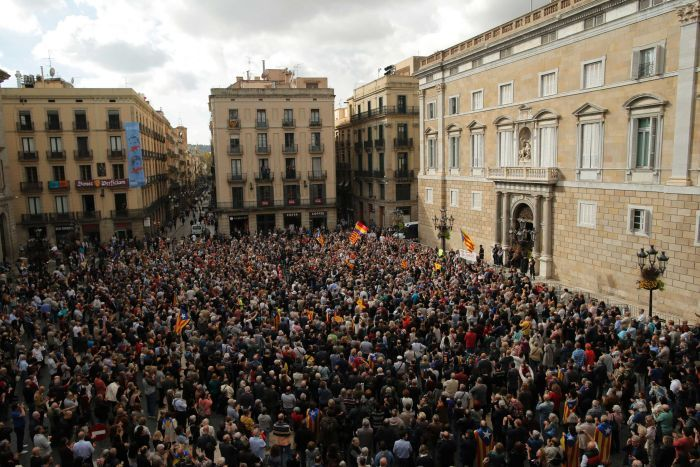 Protests against Catalan leadership arrests