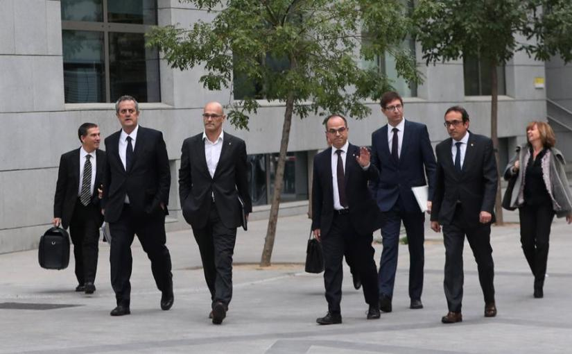 Catalan former ministers held in Spanish jails