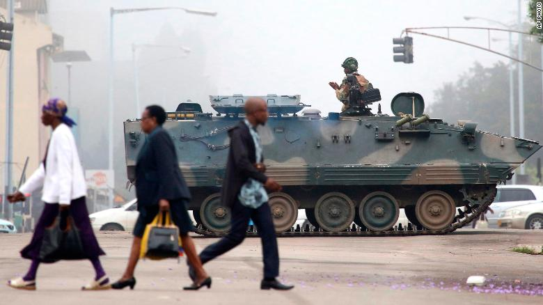 Military coup in Zimbabwe takes away control from Mugabe