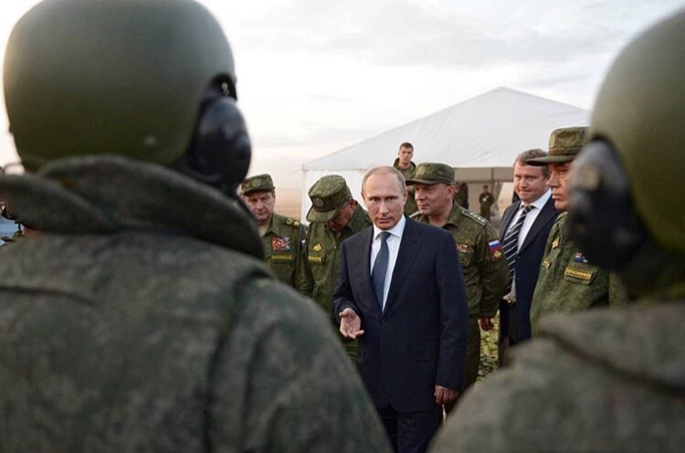 Vladimir Putin announces that Russia won't be competing in an arms race with the west