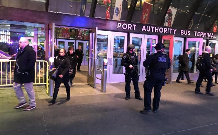 Small blast strikes transit hub in NewYork