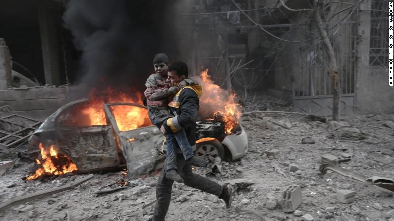 Al-Assad air-strikes in rebel-held area kill17