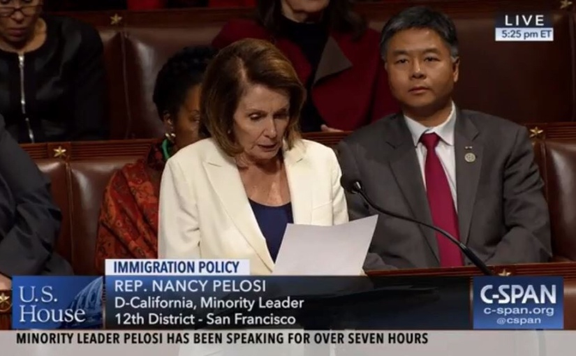 Nancy Pelosi Speaks for Over 7 Hours on House Floor … for DACA