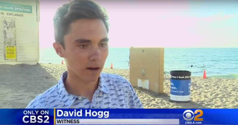Who is David Hogg, an 18 yearold high school student that hopes to be a journalist