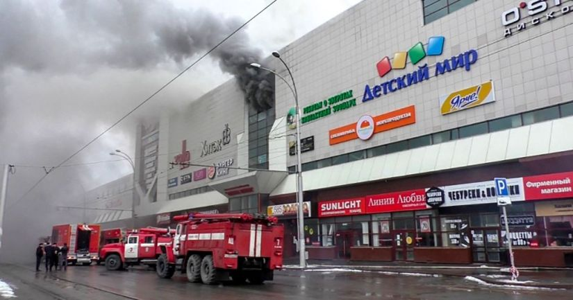 Fire in Russian shopping center over 60people